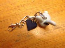 Blue Bunny Keychain by thepurpleunicorn