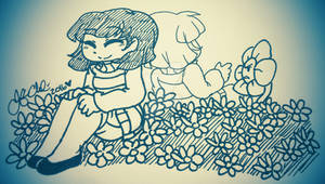 +:INKTOBER-02: Frisk[female] and Chara:+