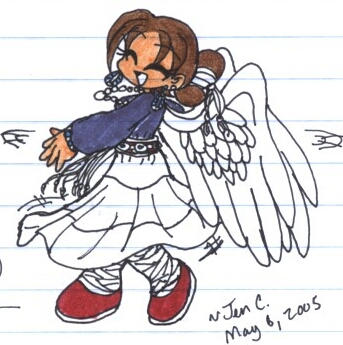 Navajo Girl with Wings ::Me:: by Jen-C