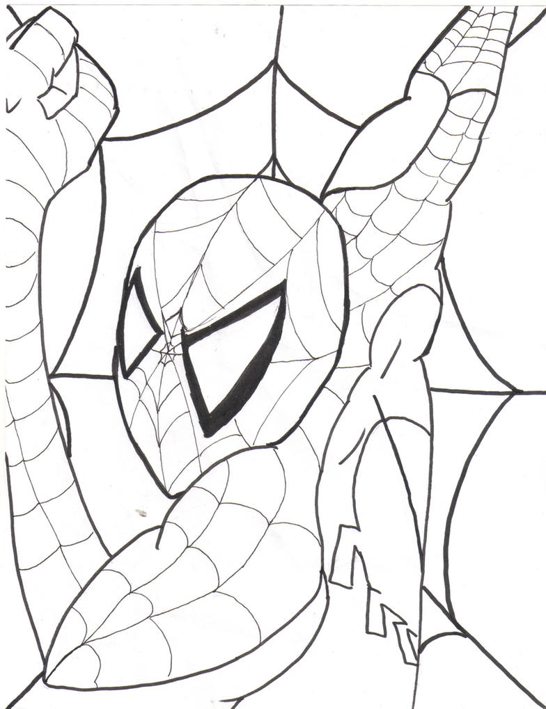 Spider man coloring page by thepope1932 on deviantart for Spider coloring pages