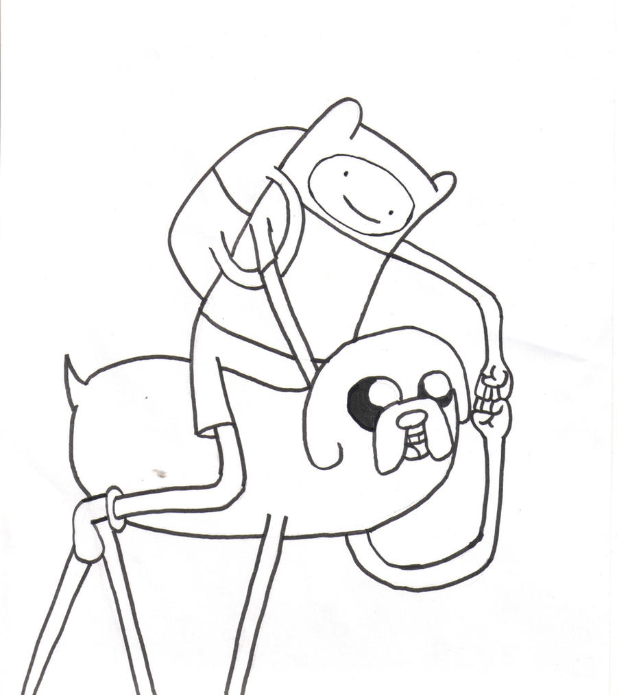 Finn and jake coloring page by thepope1932 on deviantart for Finn and jake coloring pages