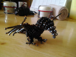 Baby crow made of pearls3