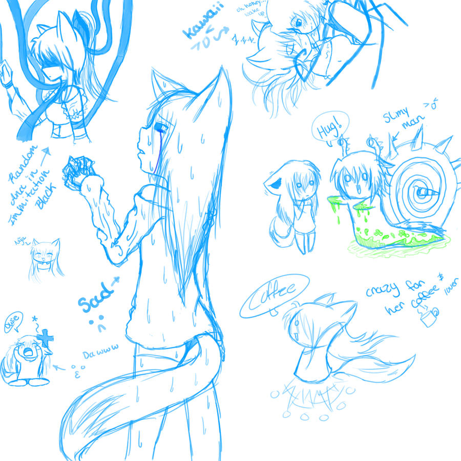 random doodles :bugman and ana by OreoMilu