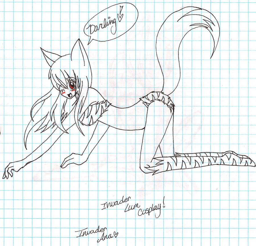 ana cosplay's as Invader Lum by OreoMilu