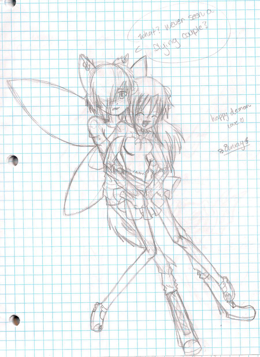 Flying couple by OreoMilu