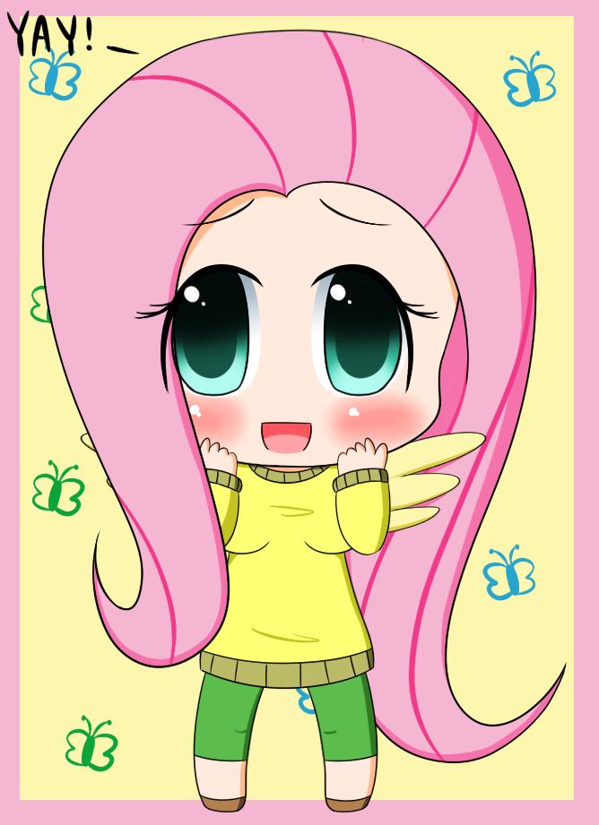 Chibi: Fluttershy by PokuMii on DeviantArt