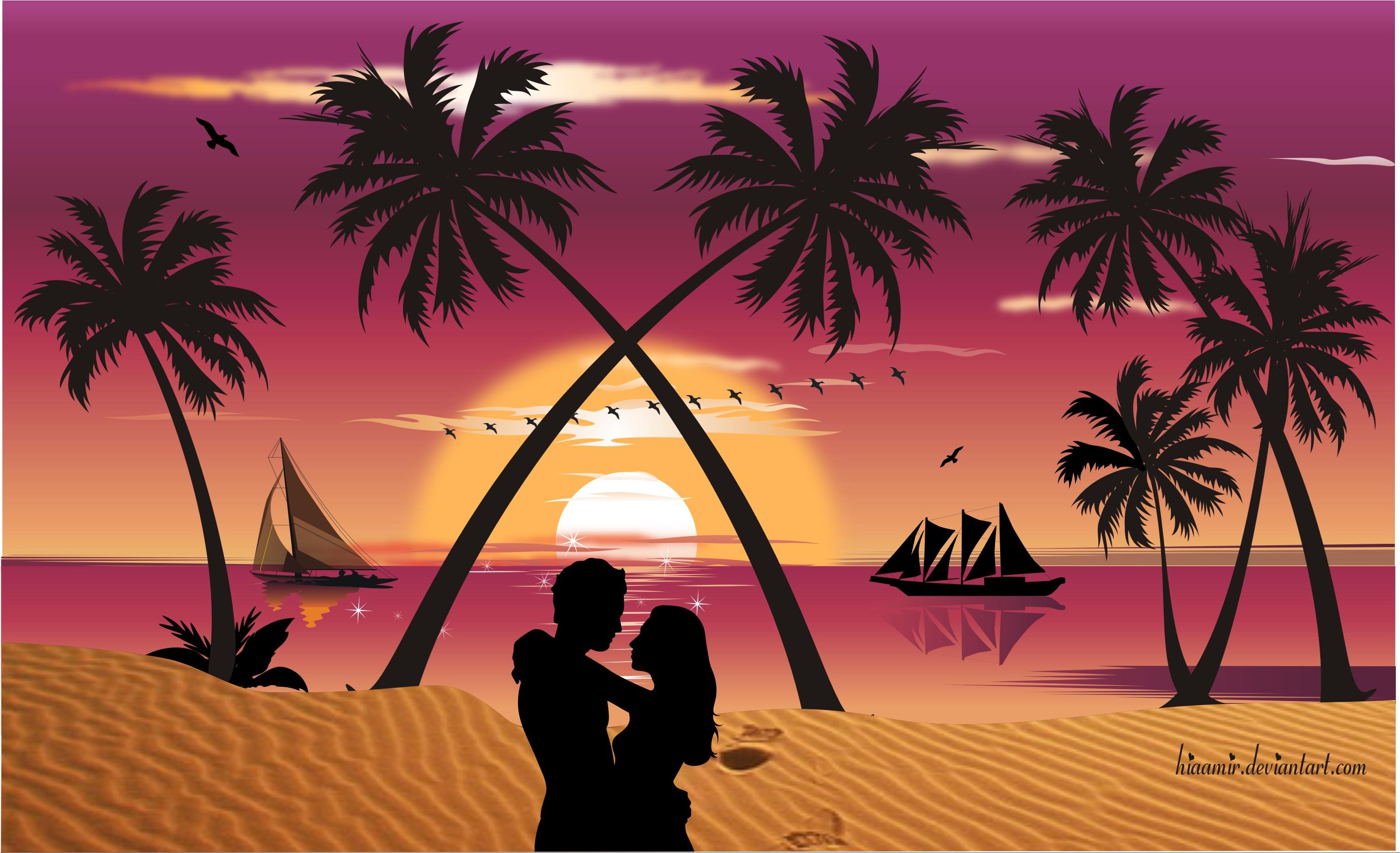 Romantic Sunset by hiaamir