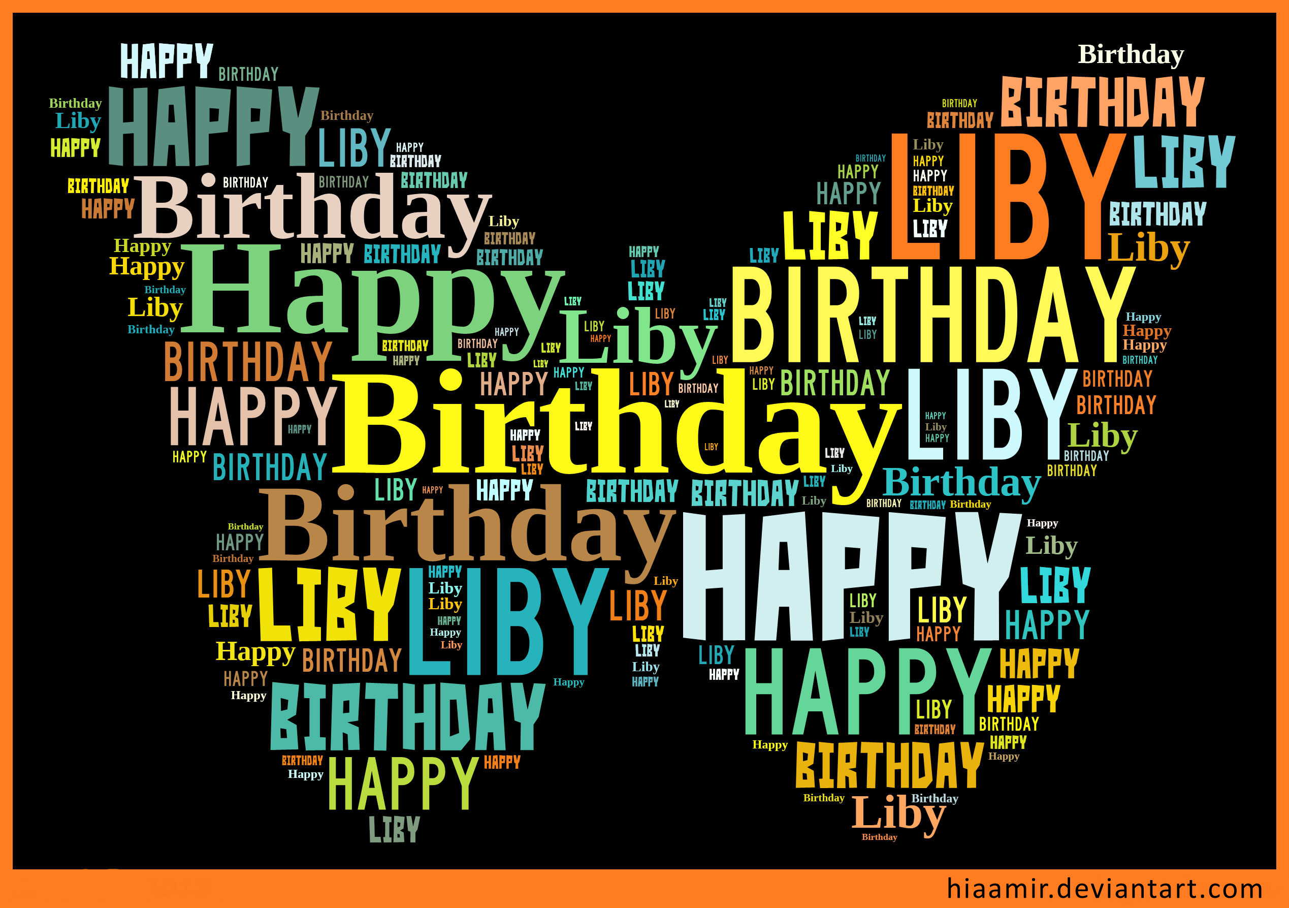 Happy Birthday Liby by hiaamir