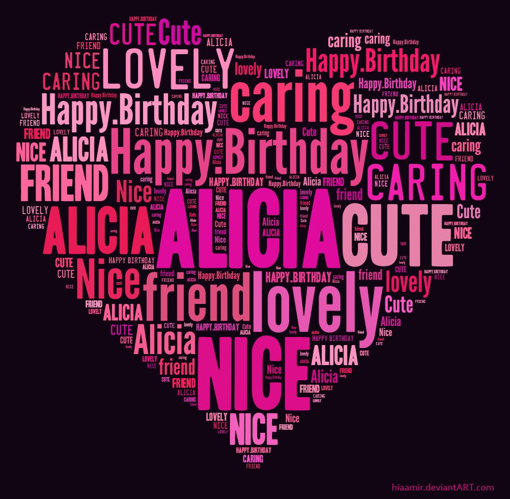 Alicia Text