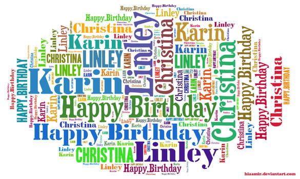 Happy birthday my dear friends
