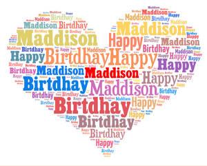 Hapy birthday Maddison