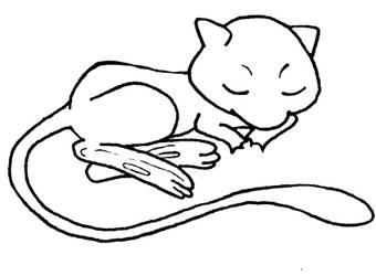 cute mew lineart by Nagakashi
