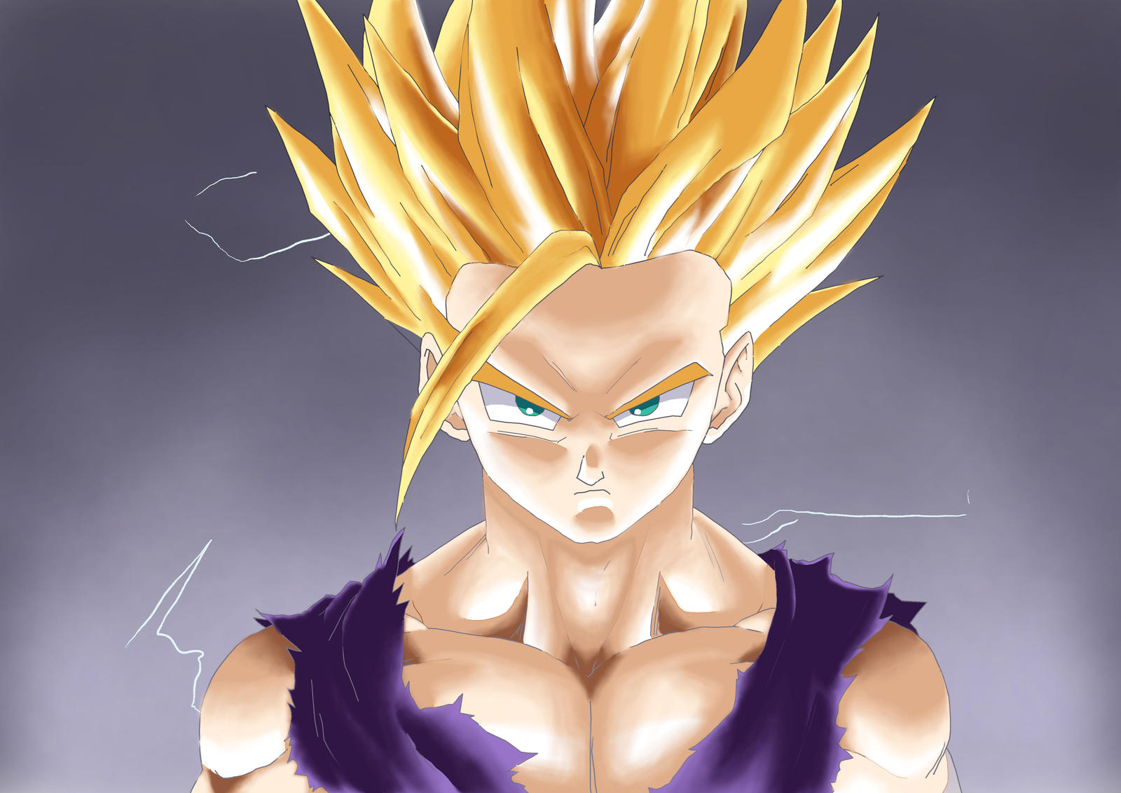 Teen gohan dragon ball super saiyan by thonolanmp on - Teen gohan wallpaper ...