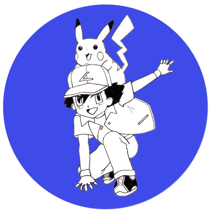 13. Ash/Red (Pokemon) #DrawingAlongSummer by ThonoLanMP