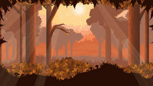 autumn background - pixel