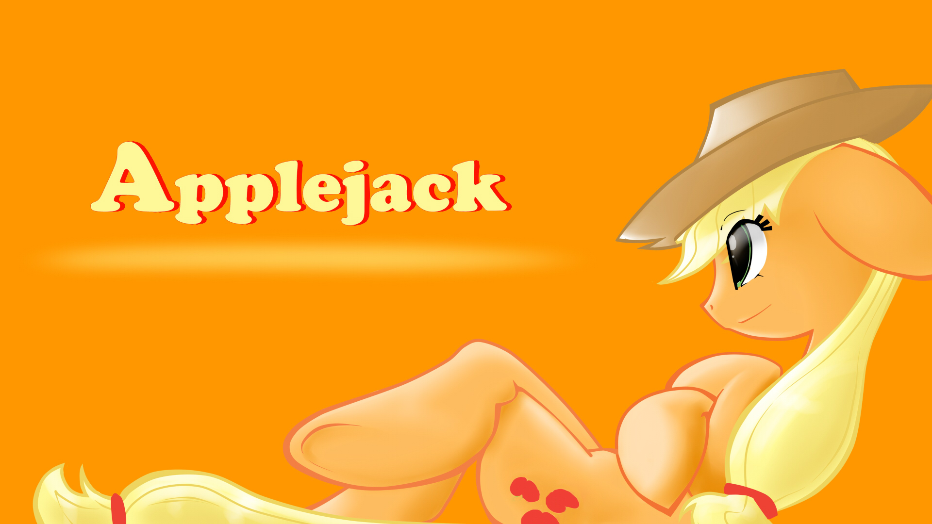 Applejack. 0% shade opacity. by Animeculture