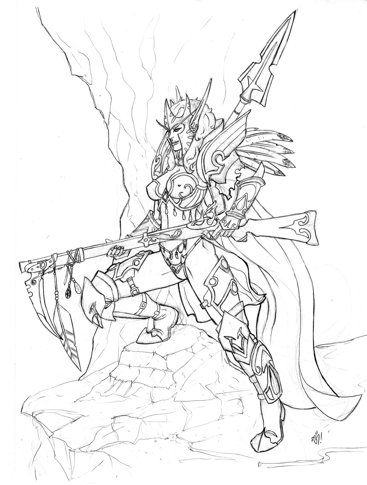 how to draw the blademaster from wow