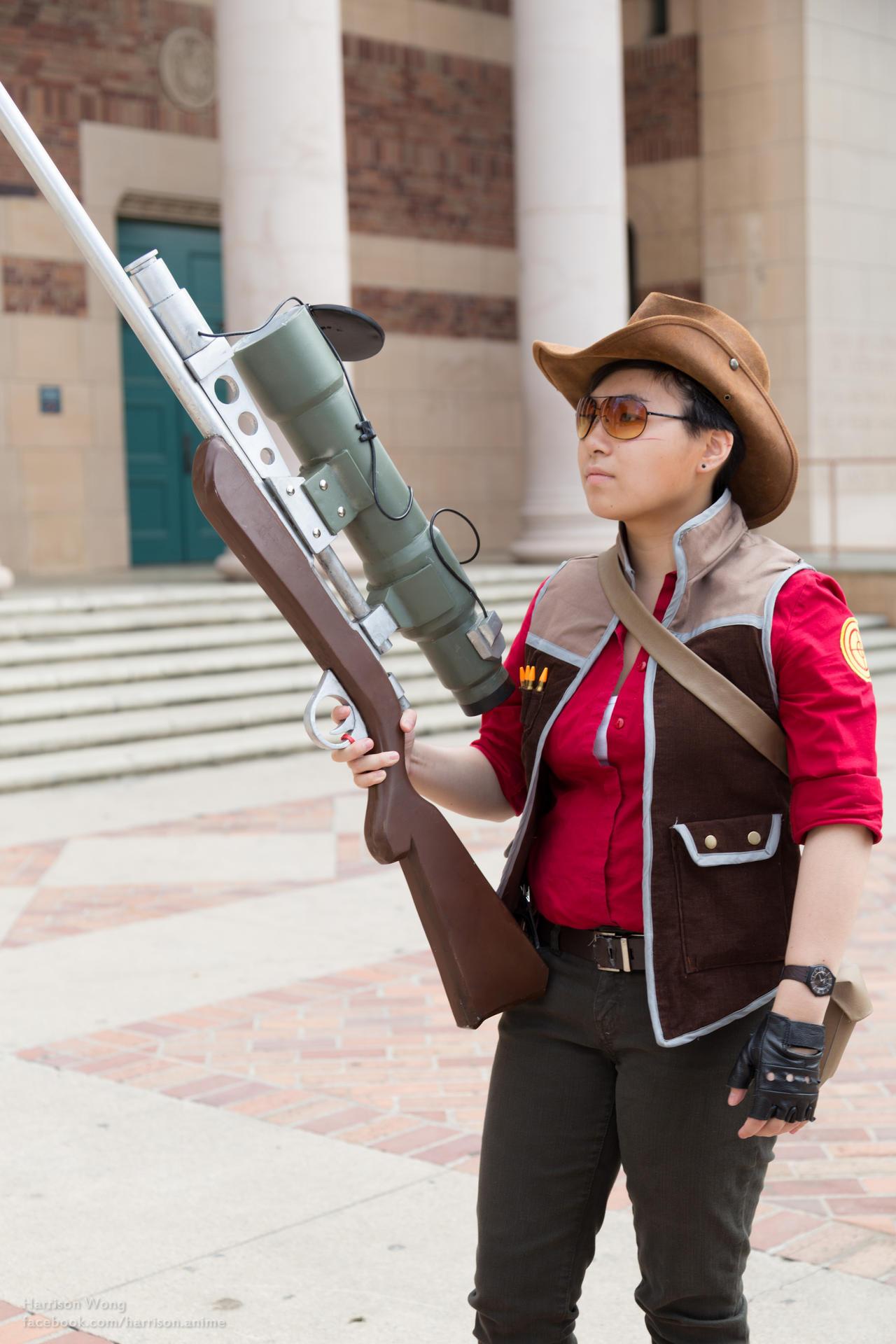 TF2 Sniper Cosplay [Sacanime 2013] by Ryuuji