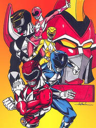 mighty morphin power rangers by Gonzo1701