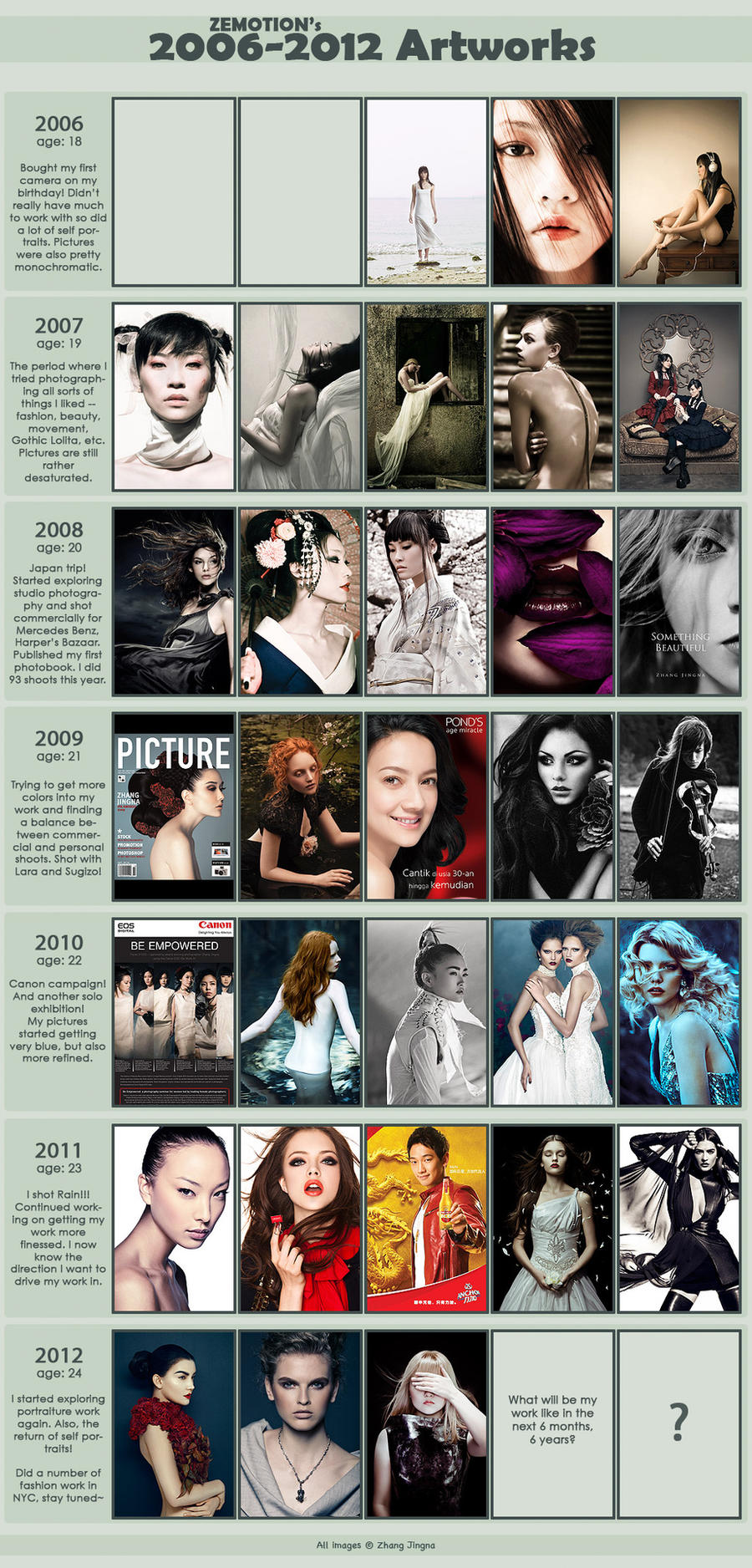 2006-2012 Artwork Meme by zemotion