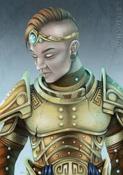 Henning in Skyrim Armor