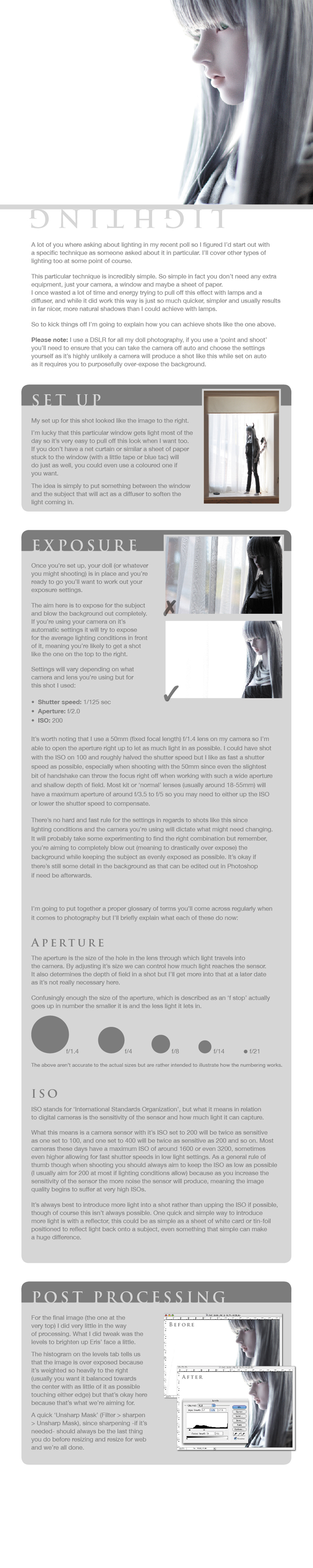 BJD Photography Tutorial I by Geekisthecolour