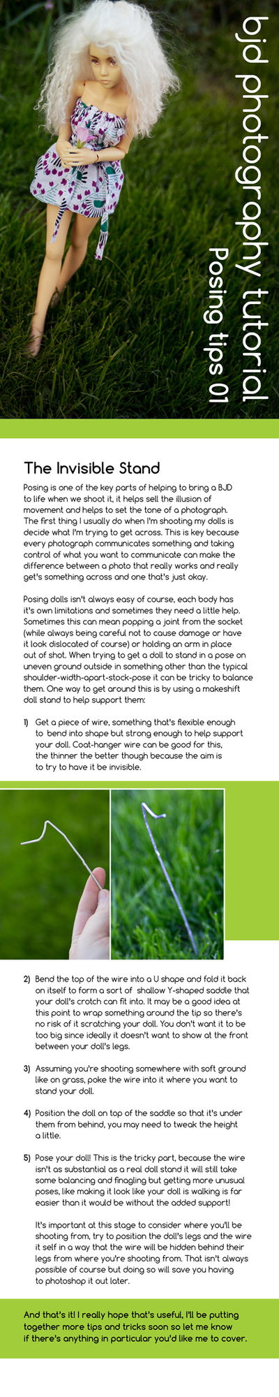 BJD Posing tips 01 by Geekisthecolour