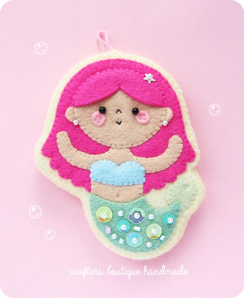 Little Mermaid Sugar Cookie Charm by CraftersBoutique
