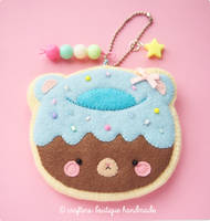 Kawaii Donut Bear Sugar Cookie Charm by CraftersBoutique