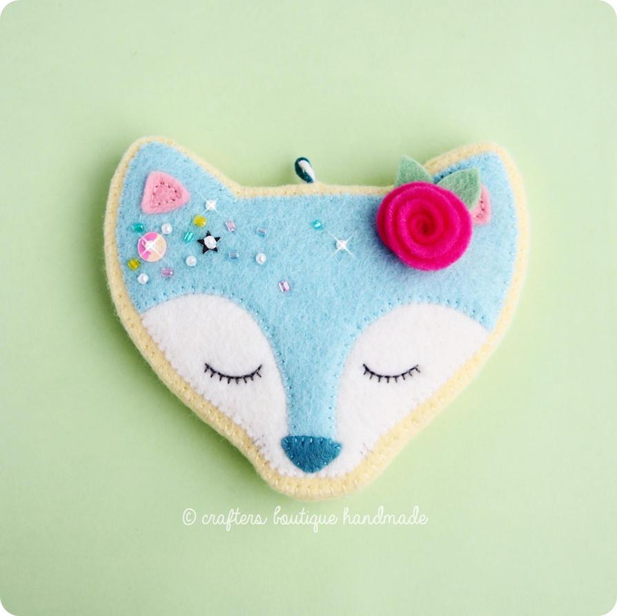 Kawaii Fox Sugar Cookie Charm by CraftersBoutique