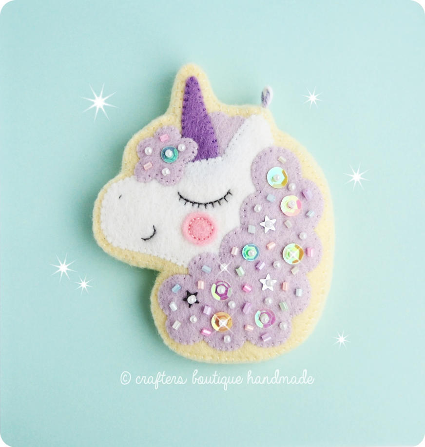 Magical Unicorn Cookie Charm by CraftersBoutique