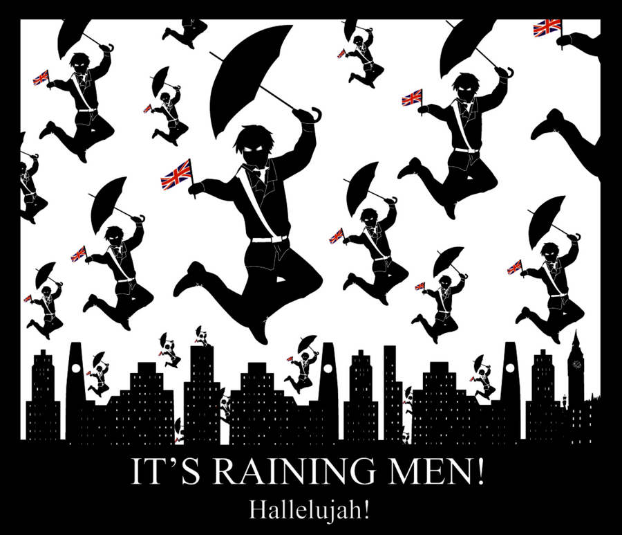 It's raining men 9.9 by Kaosshojo on DeviantArt