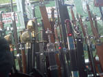 Highland games display