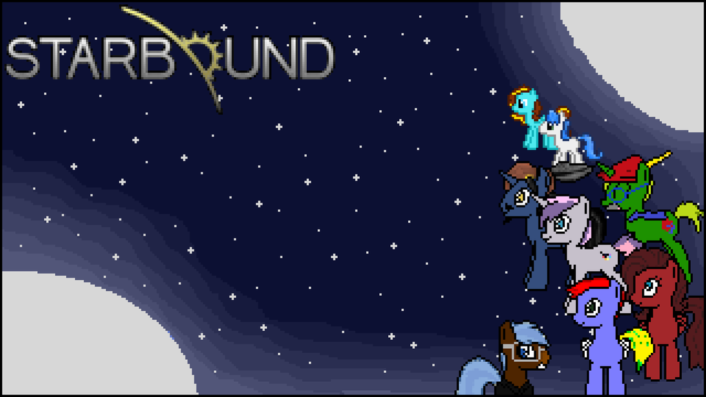 Skies of Harmony: Starbound Wallpaper by BusterBuizel