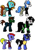 Pixel Ponies! KP Cast! by BusterBuizel