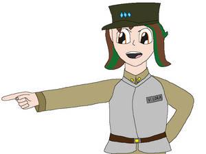 Modern Medieval Female Officer