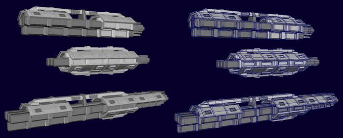 Boru-Class Cargo Haulers untextured