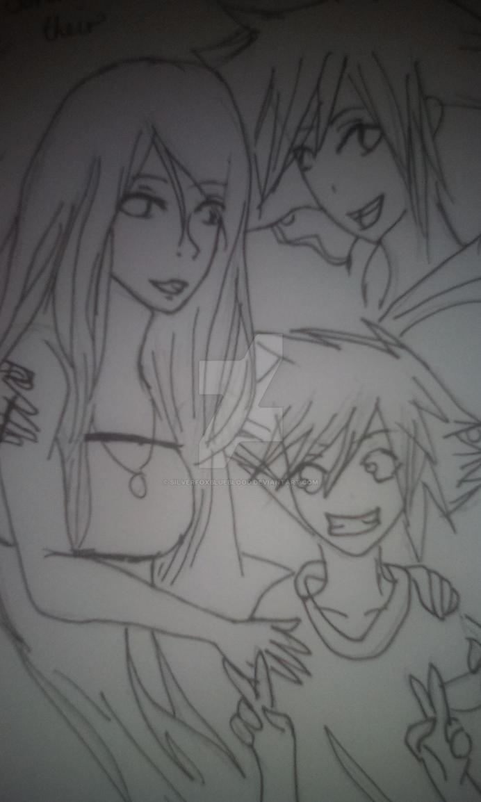 Sara and Sora and Soran by SilverfoxBlueBlood
