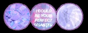 aesthetic purple broken objects divider #4 | f2u