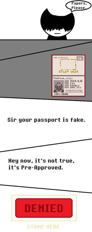 A Papers, Please Comic