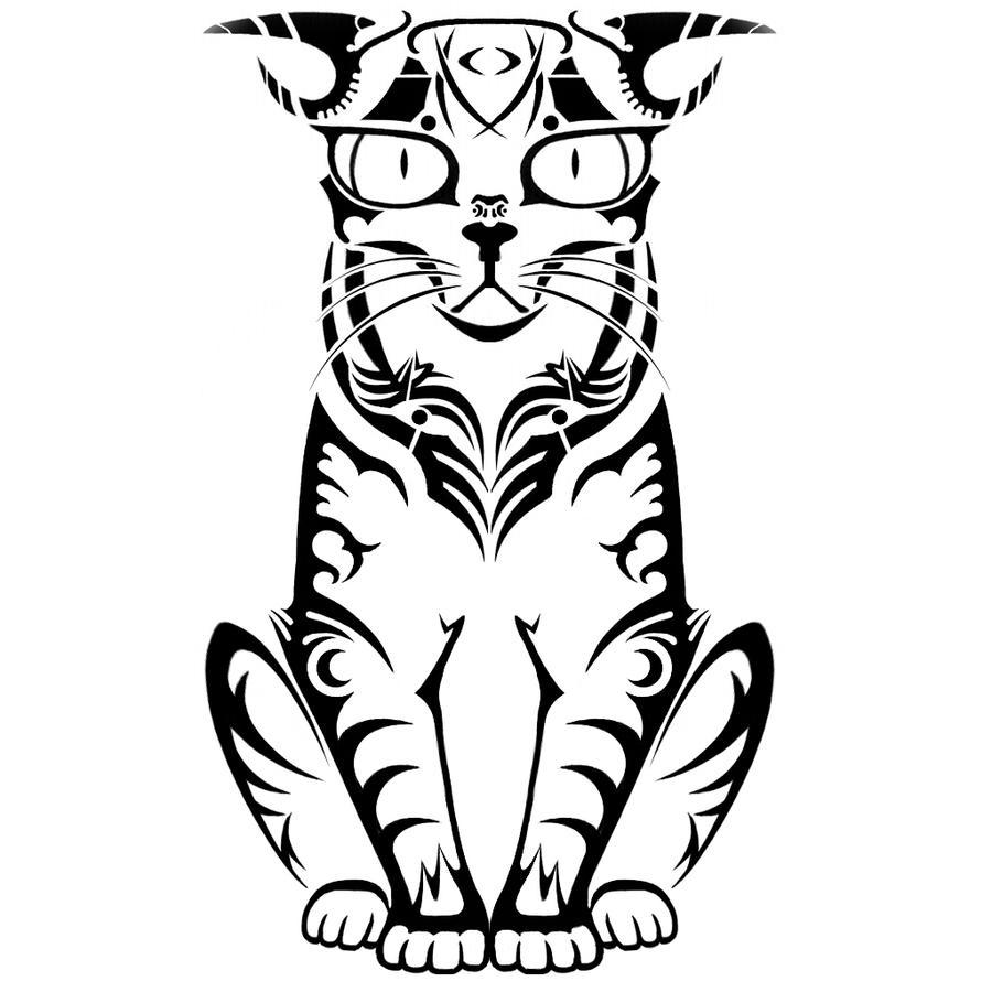 Random Tribal Cat By 5kTROLL30o On DeviantArt