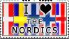 I Heart the Nordics stamp
