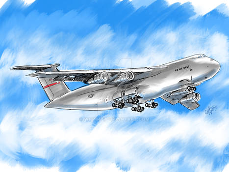 Westover C-5 Galaxy does a flyover