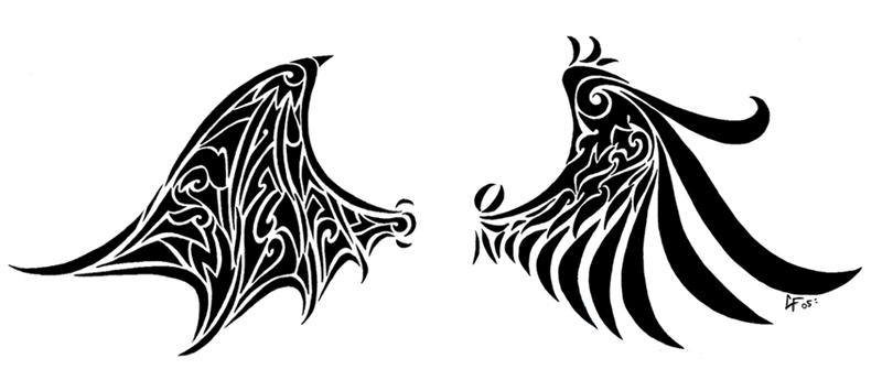 demon and angel wings by lil creeper on deviantart. Black Bedroom Furniture Sets. Home Design Ideas