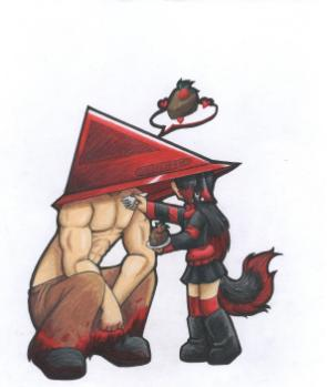 MUTT and Pyramid head by ThaMutt
