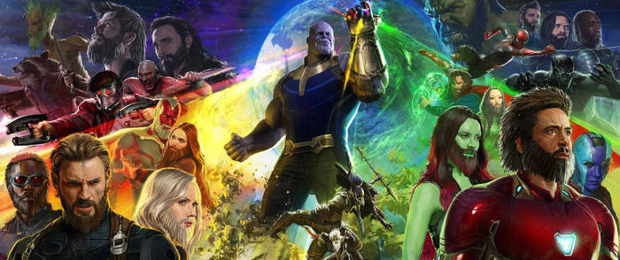 The Infinity War Poster but longer hair + beards