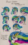 Princess Celestia Facial Expressions