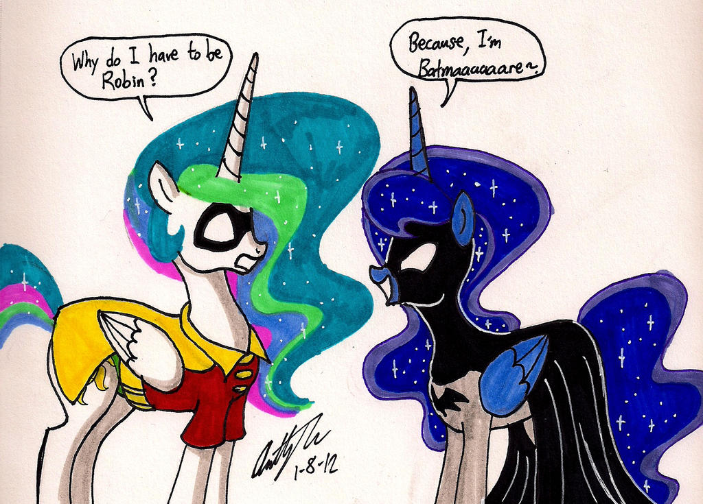 Two sisters play Batmare by newyorkx3