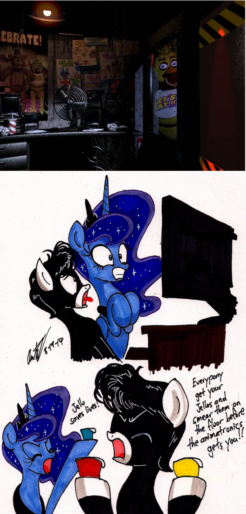 Junior and luna plays five nights at freddy s by newyorkx3 on