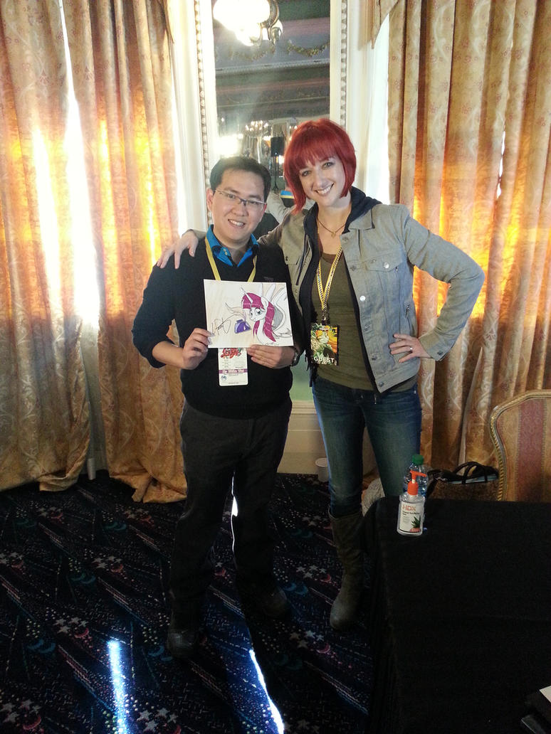 Me and Lauren Faust by newyorkx3